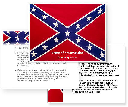 The Battle Flag of the Confederacy PowerPoint Template #01814