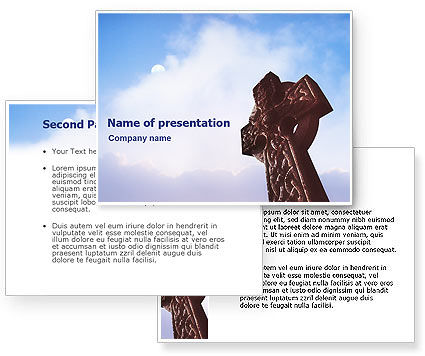 Celtic Cross PowerPoint Template #01825