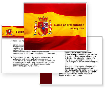 Spanish Flag Powerpoint Template Backgrounds For Presentation