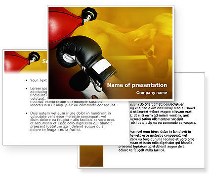 boxing training powerpoint template 3 backgrounds 3 masters 20 slides. Black Bedroom Furniture Sets. Home Design Ideas