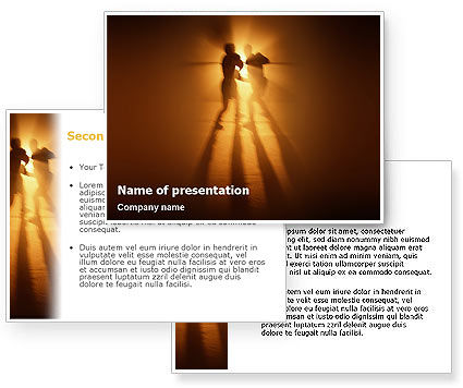 Boxing Ring PowerPoint Template #01981