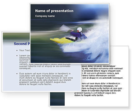 Kayak PowerPoint Template #01998