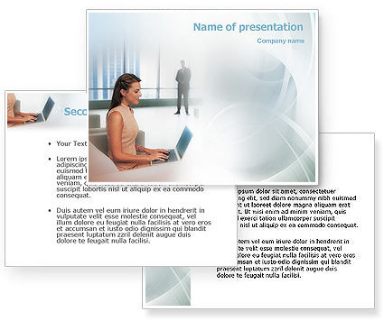 Secretary PowerPoint Template #01999