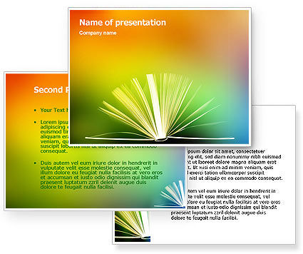 Book PowerPoint Template #02010