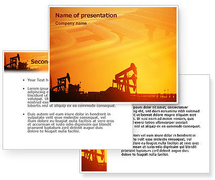 Oil Well PowerPoint Template #02018