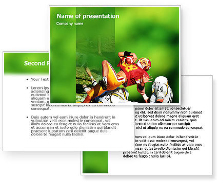 Gridiron Football PowerPoint Template #02030