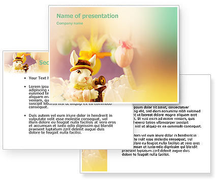 Easter Rabbit PowerPoint Template #02078