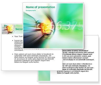 Bicycle Racing PowerPoint Template #02093