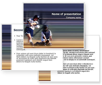 Softball PowerPoint Template #02165