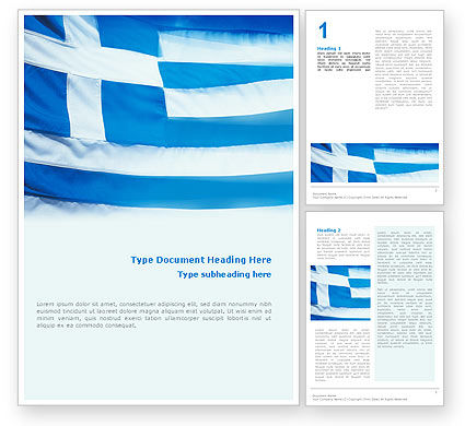 Flag of greece word template 02208 for Greek flag template