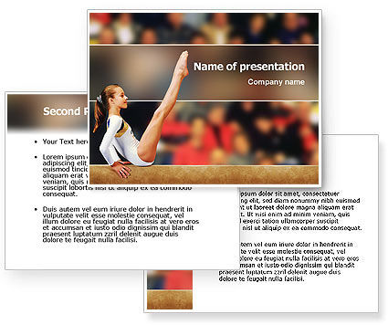 Artistic Gymnastics PowerPoint Template #02299