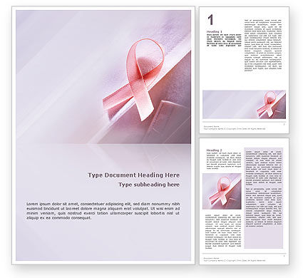 breast cancer powerpoint template free download - breast cancer awareness word template 02302