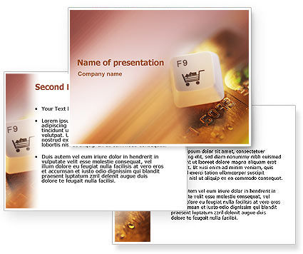 Online Purchase PowerPoint Template #02314