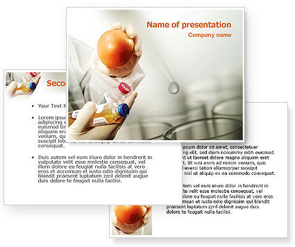 Biology and Genetics PowerPoint Template #02367