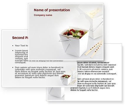 Chinese food powerpoint template 3 for Asian cuisine ppt