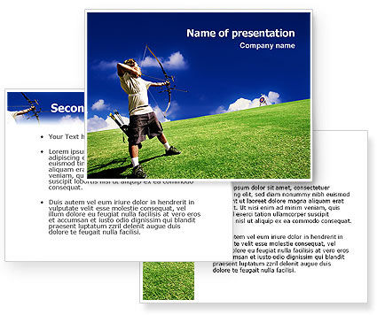 Archery PowerPoint Template #02411