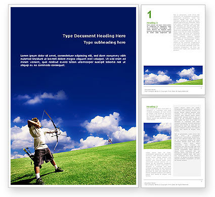 Archery Word Template #02411