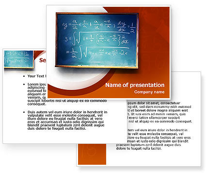 Math PowerPoint Template #02418