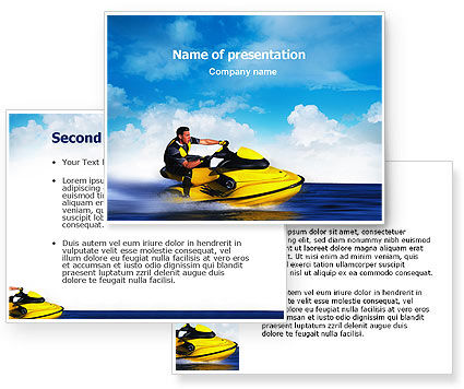 water motorcycle powerpoint template 3 backgrounds 3 masters 20 slides. Black Bedroom Furniture Sets. Home Design Ideas