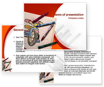 Colored Crayons PowerPoint Template #02423