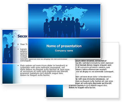 Globalization PowerPoint Template #02495