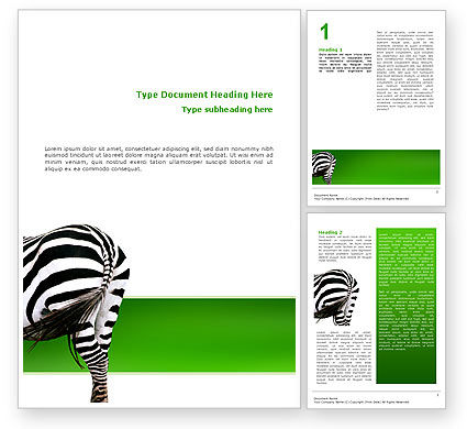 Zebra Word Template #02564