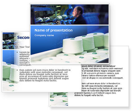 Weaving Mill PowerPoint Template #02569