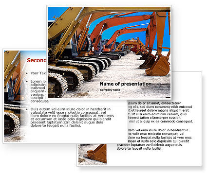 Heavy Construction Equipment PowerPoint Template #02636
