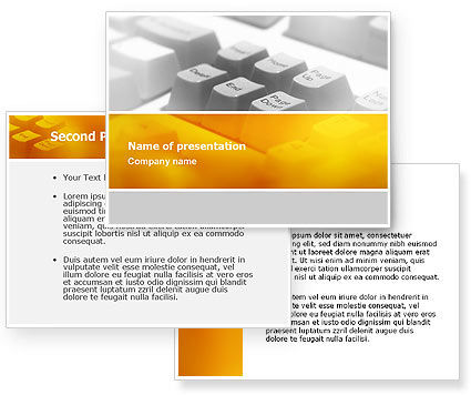 Gray Keyboard PowerPoint Template #02733