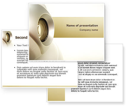 Webcam PowerPoint Template #02758