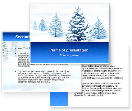 Winter Snow PowerPoint Template #02800