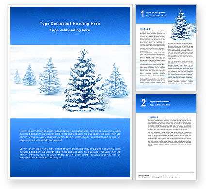 Winter Snow Word Template #02800