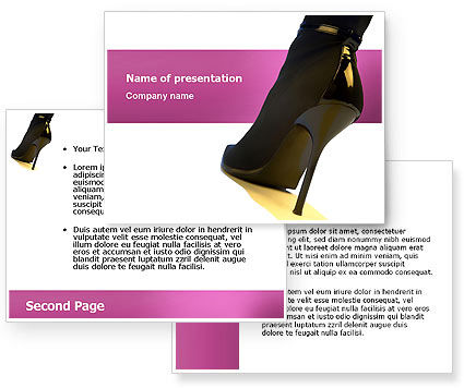 Female Fashion Shoes PowerPoint Template #02842
