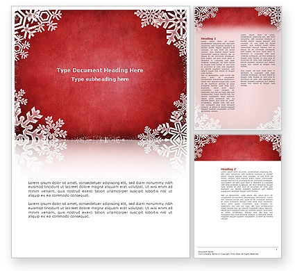 Christmas Theme Word Template #02848