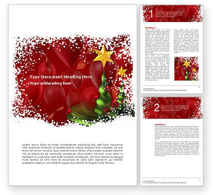 New Year Celebration Word Template #02885