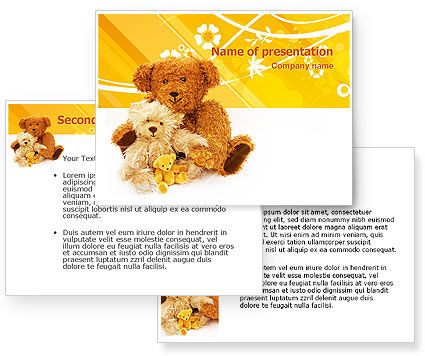 Teddy Bear PowerPoint Template #02901