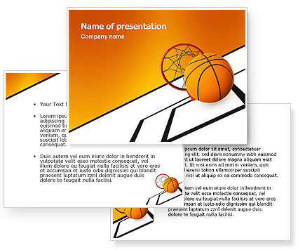 Basketball PowerPoint Template #02904
