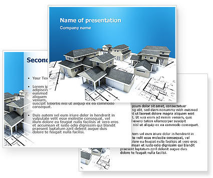 House Building PowerPoint Template #02955
