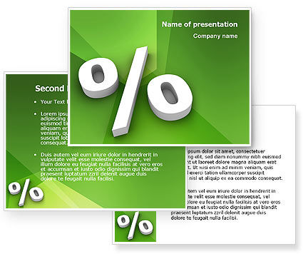 Percent Sign PowerPoint Template #02957