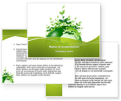 Green Environment PowerPoint Template #03091