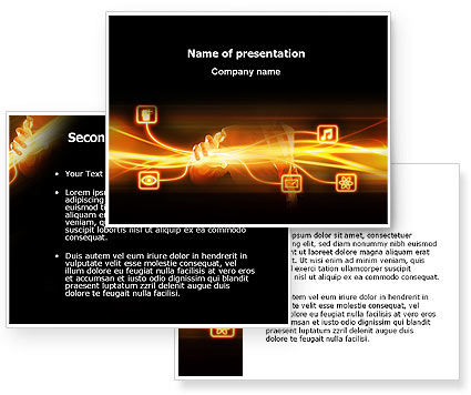 Wireless Communication PowerPoint Template #03093