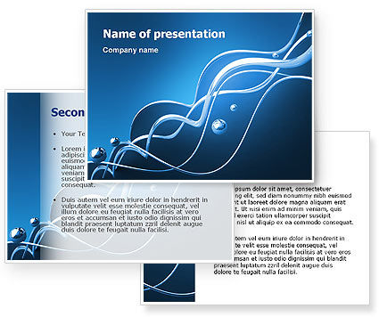 Water Theme PowerPoint Template #03137