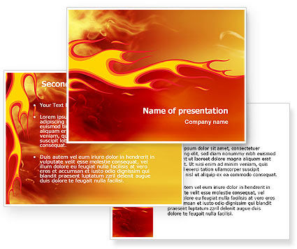 Fire Flame PowerPoint Template #03234