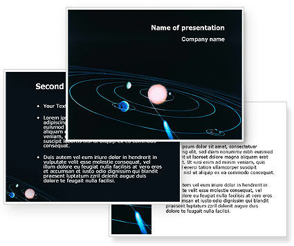Solar System PowerPoint Template #03243