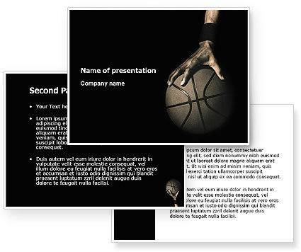 Basketball Player PowerPoint Template #03249