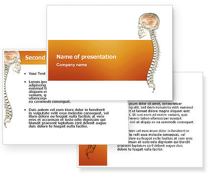 Spinal Cord PowerPoint Template #03254