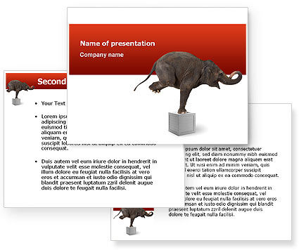 Elephant Powerpoint Template Backgrounds 03255 Mandegarfo