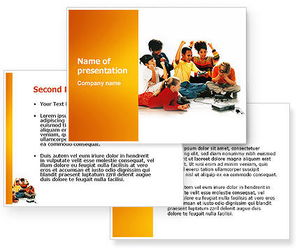 Video Games PowerPoint Template #03267