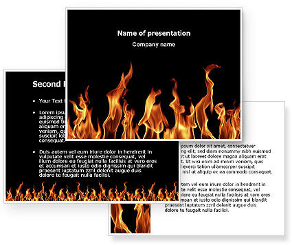 Fire PowerPoint Template #03282