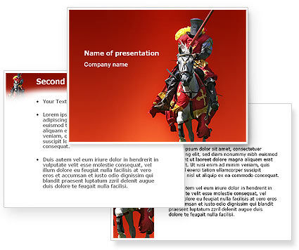 Powerpoint templates and tutorials from poweredtemplate knight powerpoint template toneelgroepblik Images